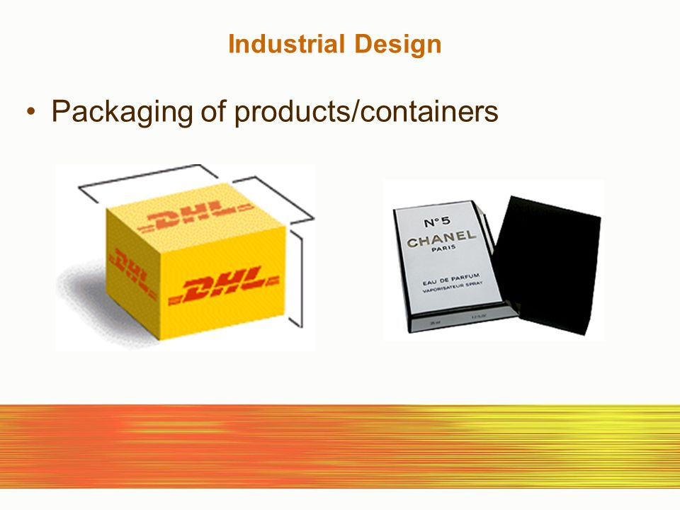 Industrial Design Packaging of products/containers