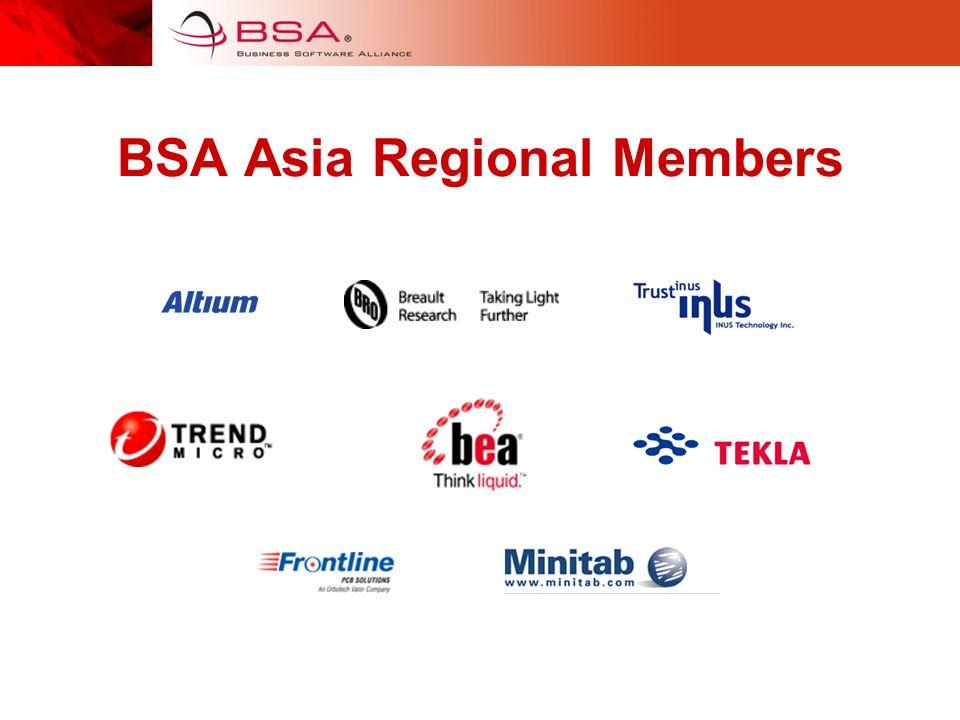 BSA Asia Regional Members