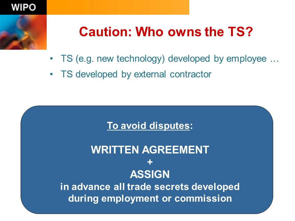 Caution: Who owns the TS. TS (e.g.
