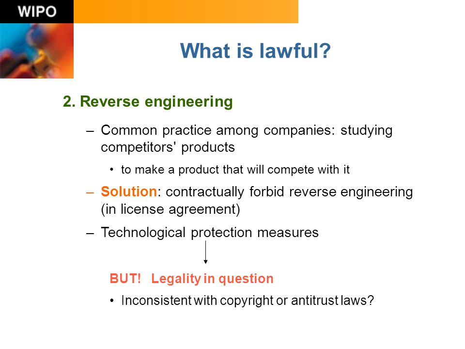 What is lawful. 2.