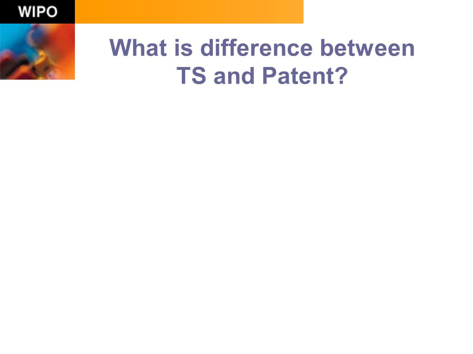 What is difference between TS and Patent?