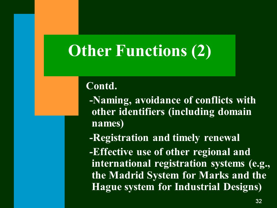 32 Other Functions (2) Contd.