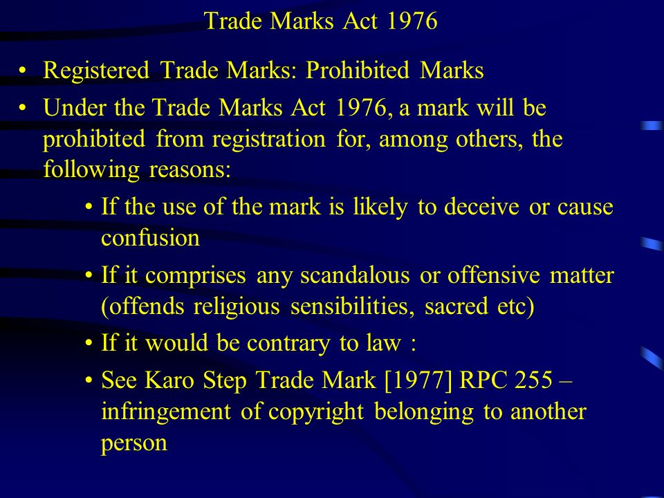 Trade Marks Act 1976 Section 45.Rectification of the Register.