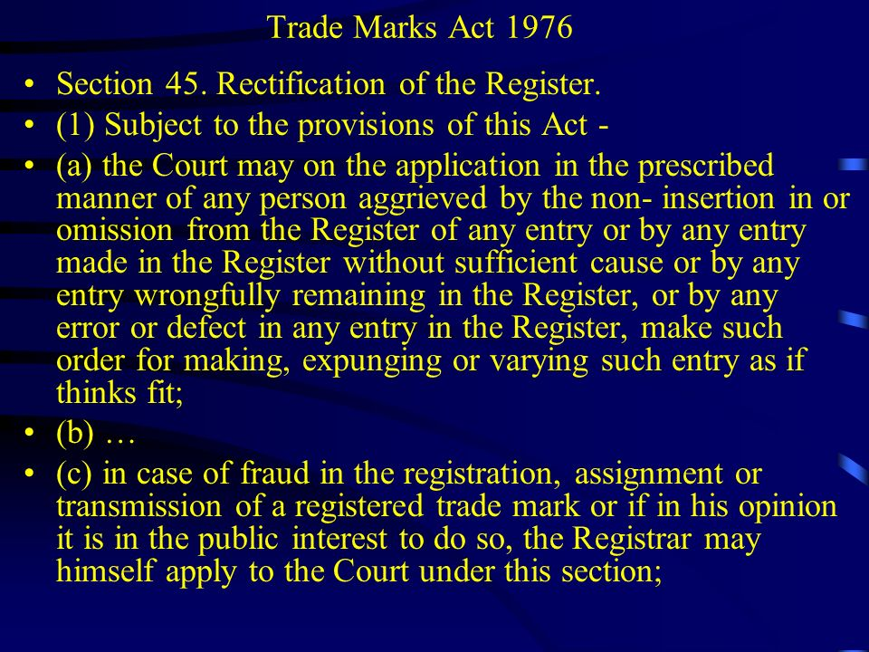 Trade Marks Act 1976 The Agricultural and Processed Food Products Export Development Authority of India (APEDA), Tamil Nadu Agricultural University and Ors v Syarikat Faiza Sdn Bhd Case D-25IP-1-2010 The Ponni Rice case – name of a rice variety cannot be validly registered as a trade mark Ponni rice was first developed by Tamil Nadu Agricultural University.