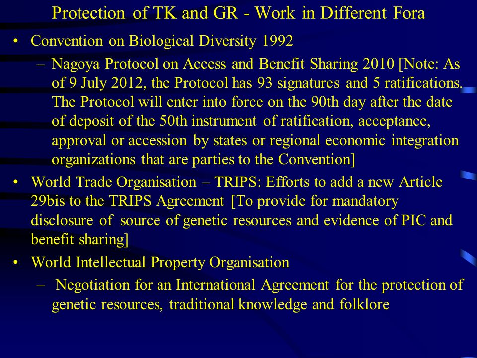 Are TK and GR protected under our Intellectual Property Laws.