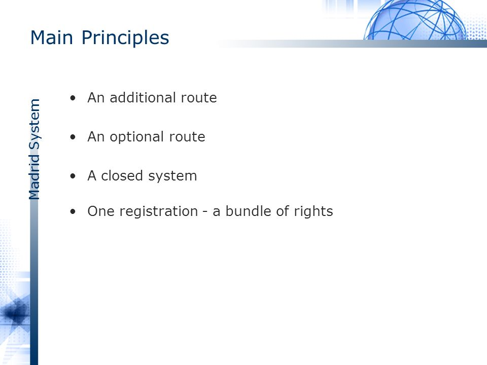 Madrid System Most Designated CPs 2008