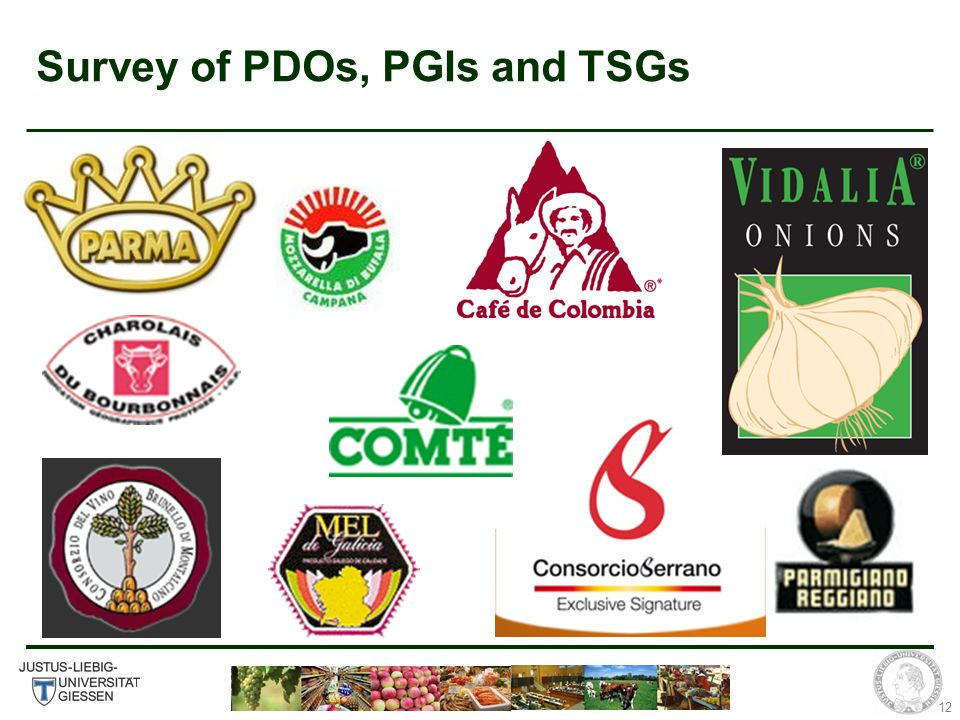 12 Survey of PDOs, PGIs and TSGs