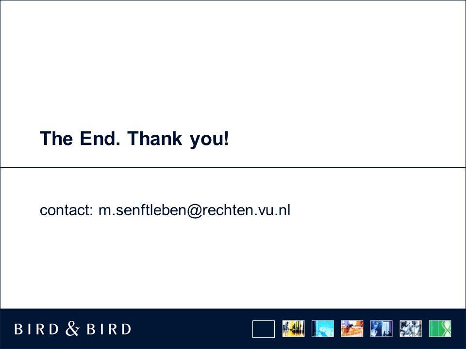 The End. Thank you! contact: m.senftleben@rechten.vu.nl