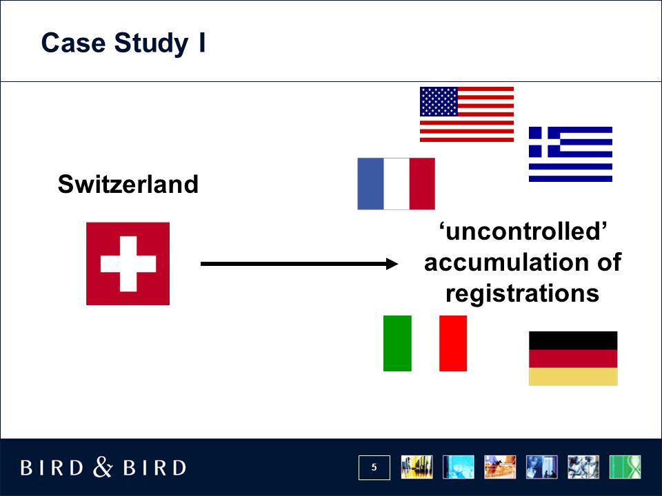 5 Switzerland uncontrolled accumulation of registrations Case Study I