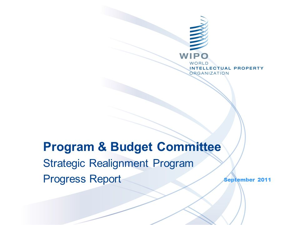 September 2011 Program & Budget Committee Strategic Realignment Program Progress Report