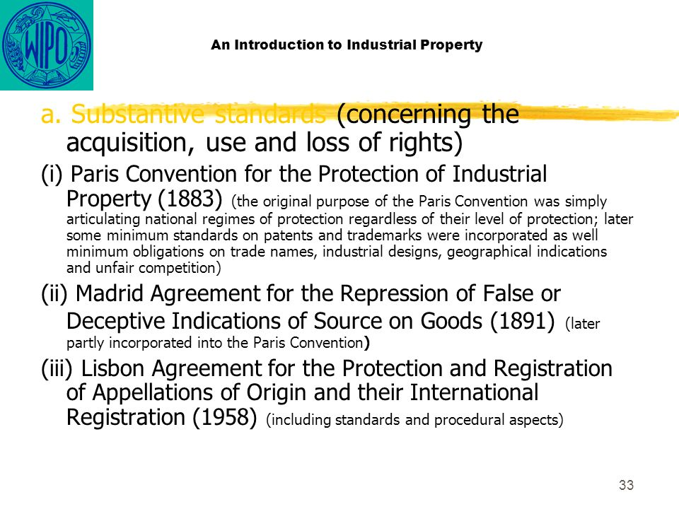 33 An Introduction to Industrial Property a.