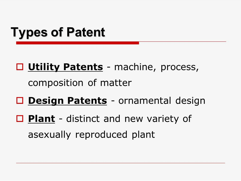Economic Perspective Patents -- legal ownership of intellectual properties Incentive for Inventors Quid pro quo - grant in exchange for disclosures Right to exclude others to use and/or manufacture the invention