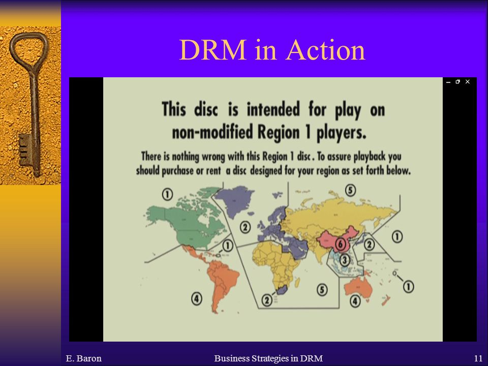 DRM in Action E. BaronBusiness Strategies in DRM11