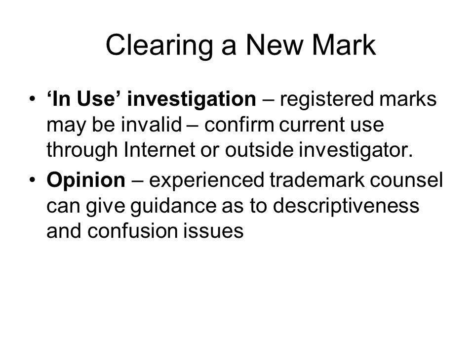 Proper Trademark Usage Why.