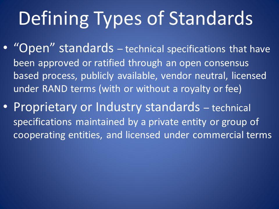 Characteristics of Organizations Standards Org.& No.