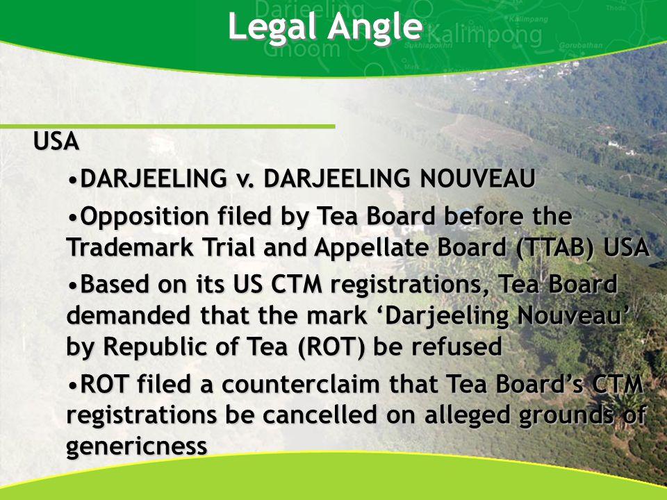 Legal Angle USA DARJEELING v. DARJEELING NOUVEAUDARJEELING v.