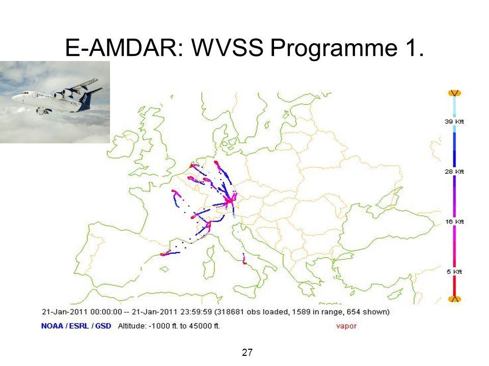 27 E-AMDAR: WVSS Programme 1.