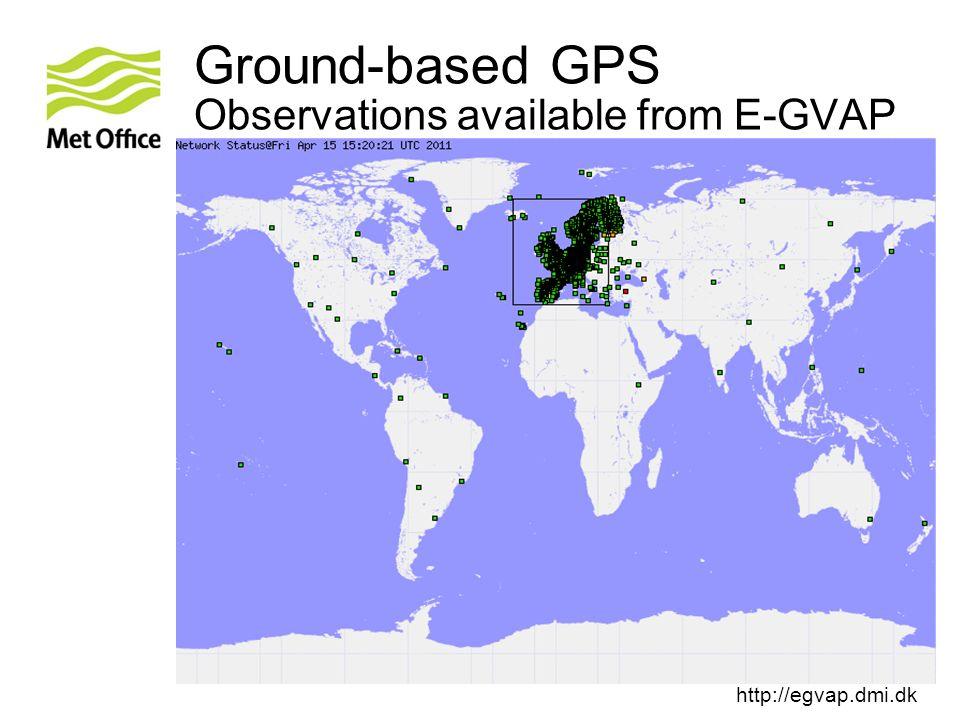 Ground-based GPS Observations available from E-GVAP http://egvap.dmi.dk