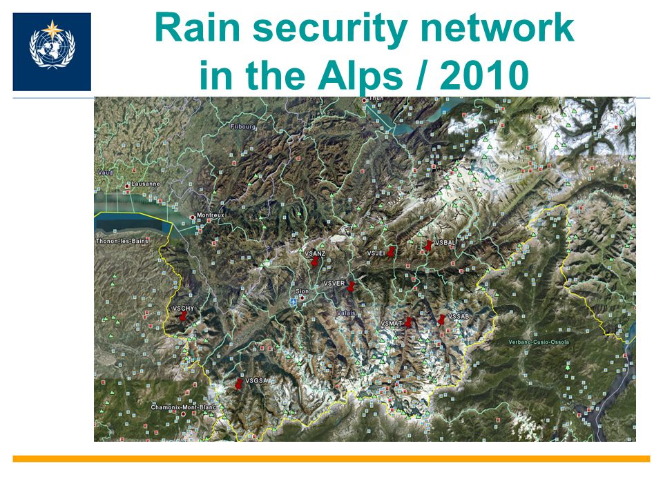 Rain security network in the Alps / 2010