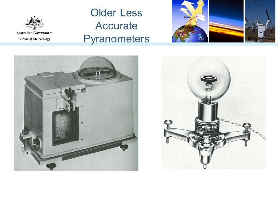 Older Less Accurate Pyranometers