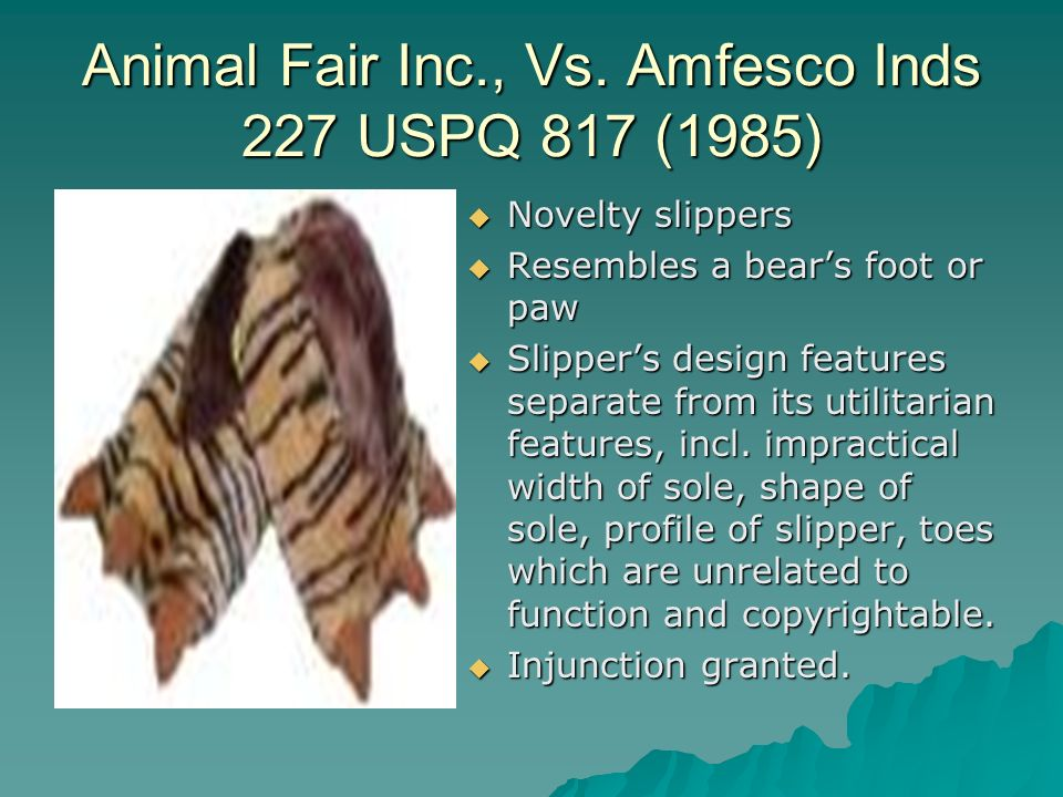 Animal Fair Inc., Vs.