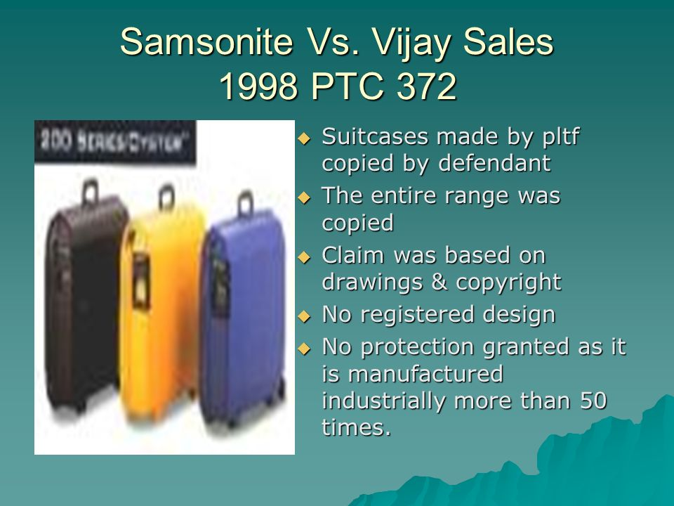 Samsonite Vs.