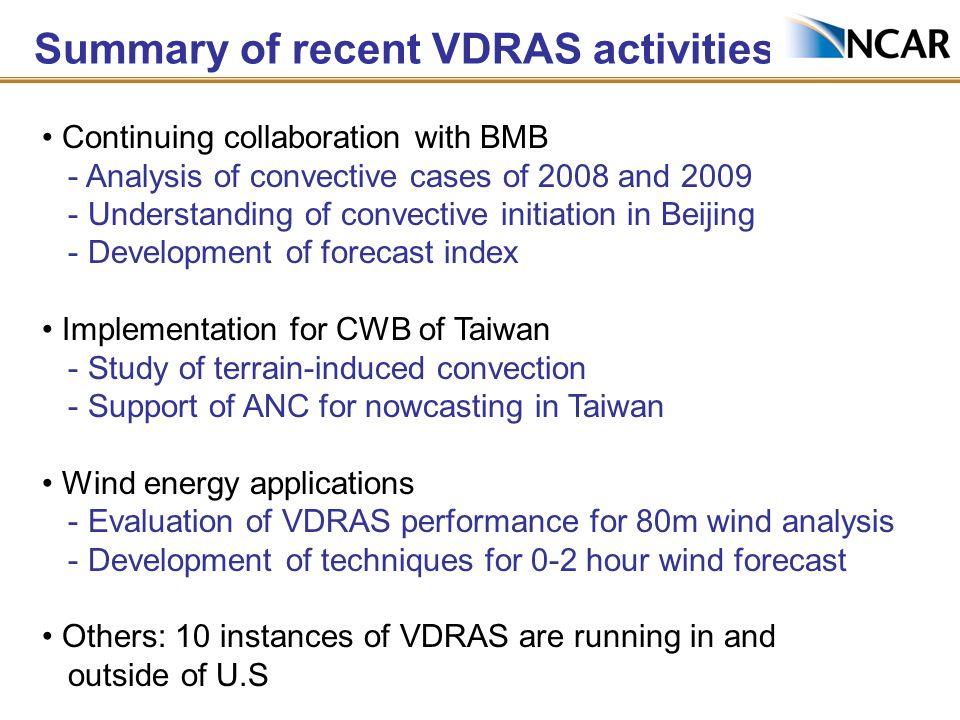 An example of VDRAS over Taiwan
