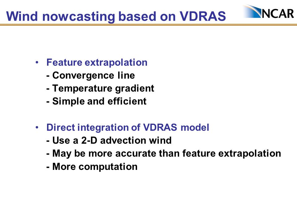 Summary of 0-6 h NWP research IHOP retrospective study through NCARs STEP program - Emphasize radar data assimilation and connection between model and nowcasting - Techniques include nudging, 3DVAR, 4DVAR, EnKF - Sensitivity of initial conditions vs.