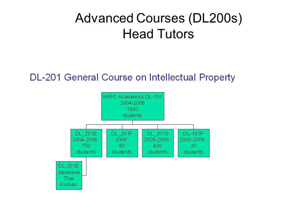 Advanced Courses (DL200s) Head Tutors