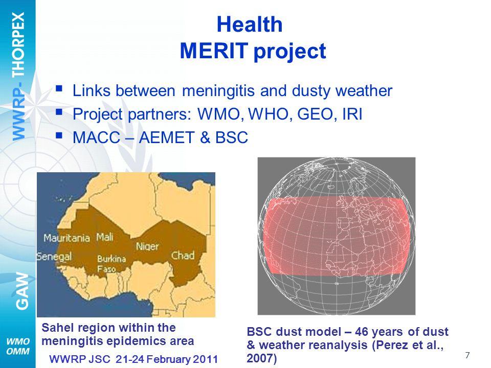 WWRP- GAW 8 WWRP JSC 21-24 February 2011