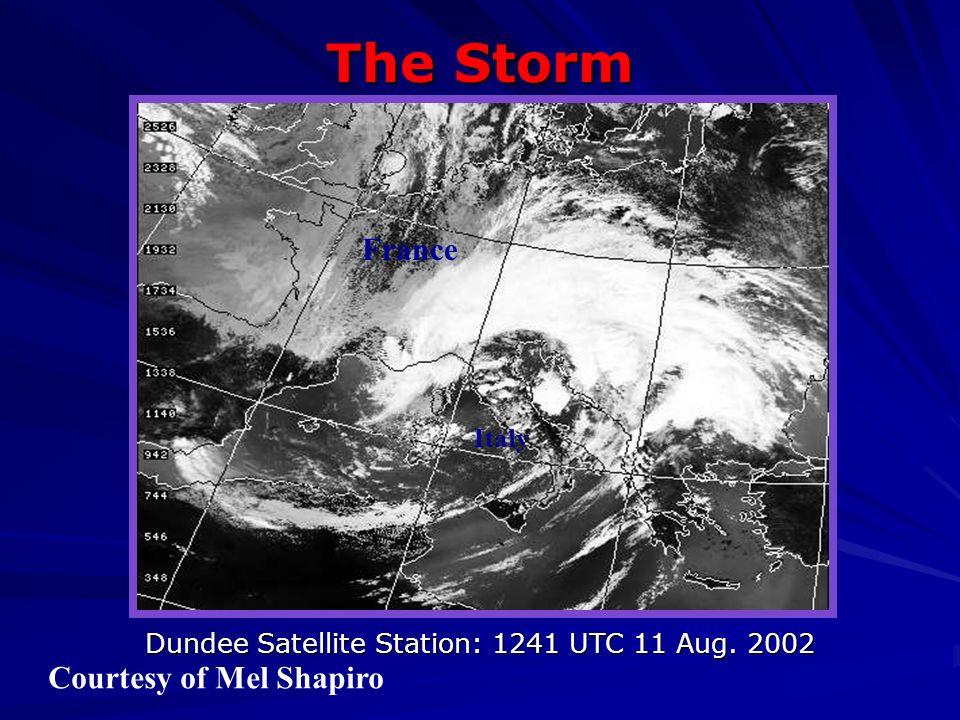Dundee Satellite Station: 1241 UTC 11 Aug. 2002 France Italy The Storm Courtesy of Mel Shapiro