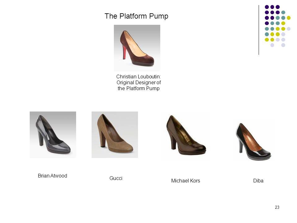 23 Christian Louboutin: Original Designer of the Platform Pump The Platform Pump Brian Atwood Gucci Michael KorsDiba