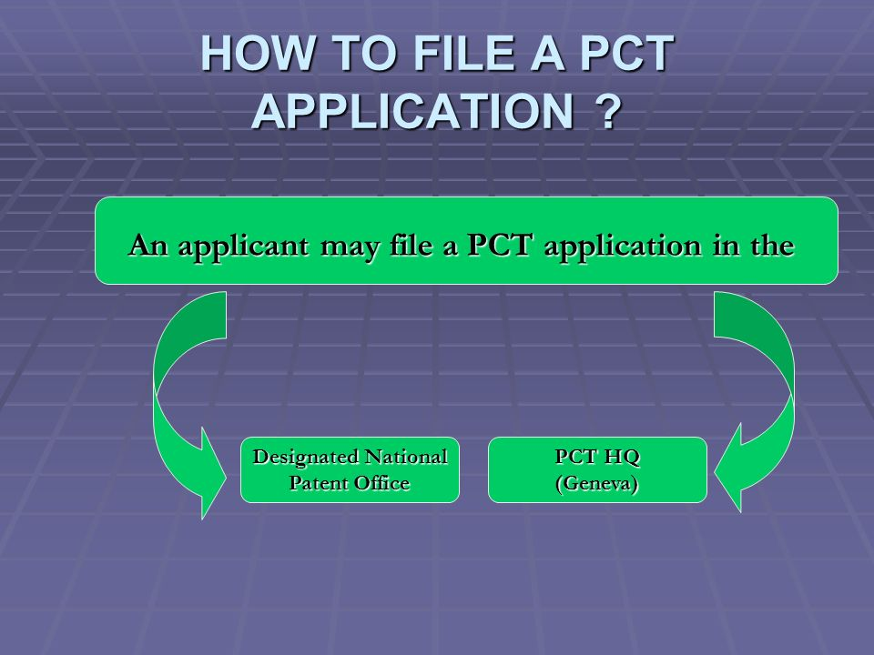 HOW TO FILE A PCT APPLICATION .