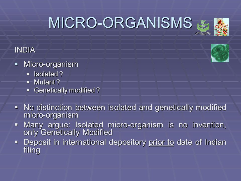 MICRO-ORGANISMS INDIA Micro-organism Micro-organism Isolated .