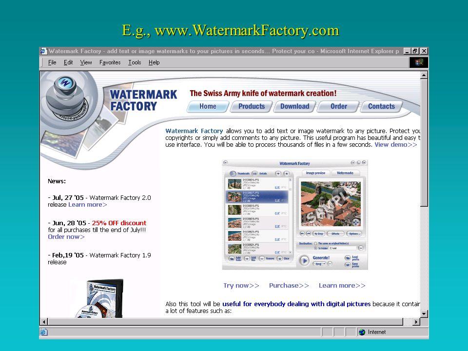 E.g., www.WatermarkFactory.com