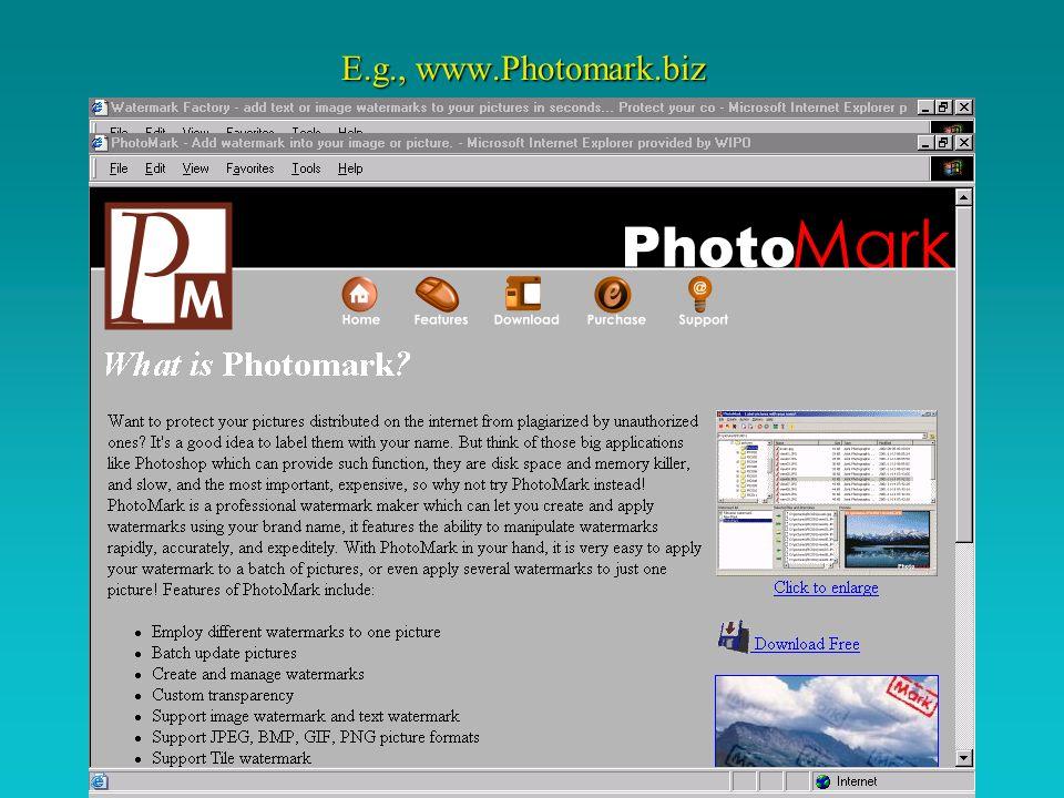 E.g., www.Photomark.biz