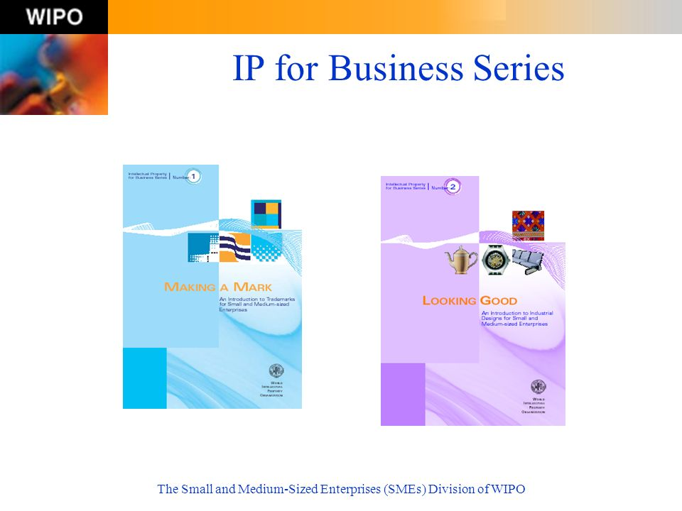 The Small and Medium-Sized Enterprises (SMEs) Division of WIPO IP for Business Series