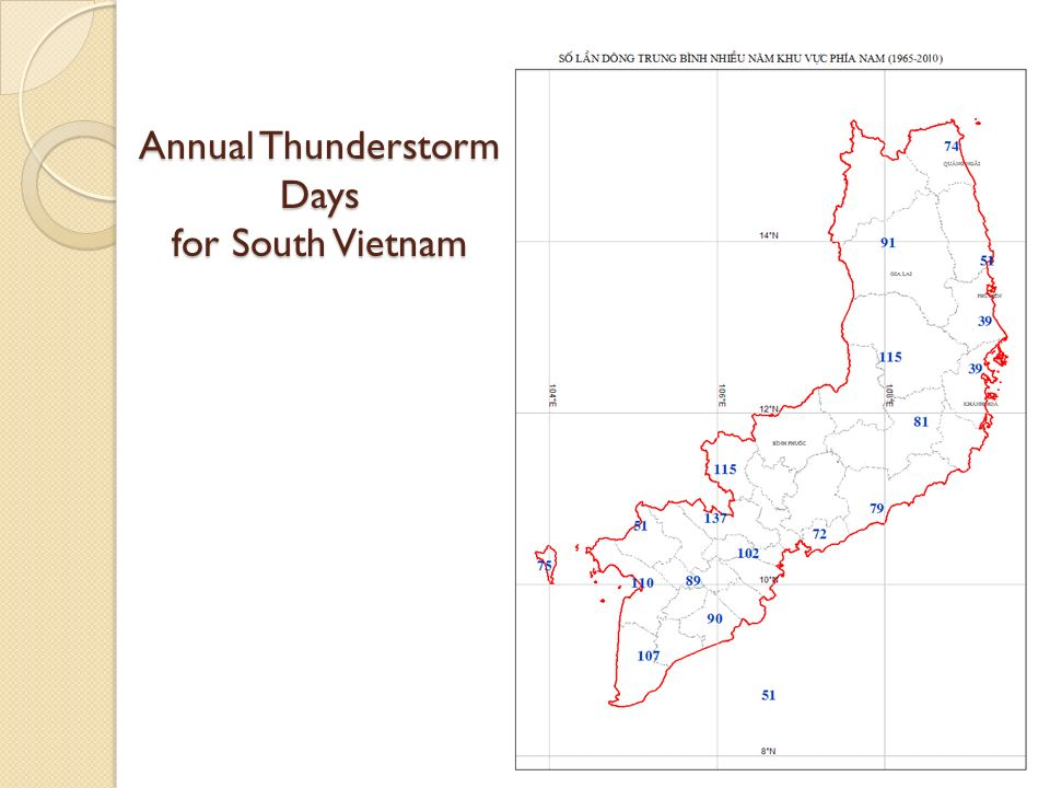 Annual Thunderstorm Days for South Vietnam