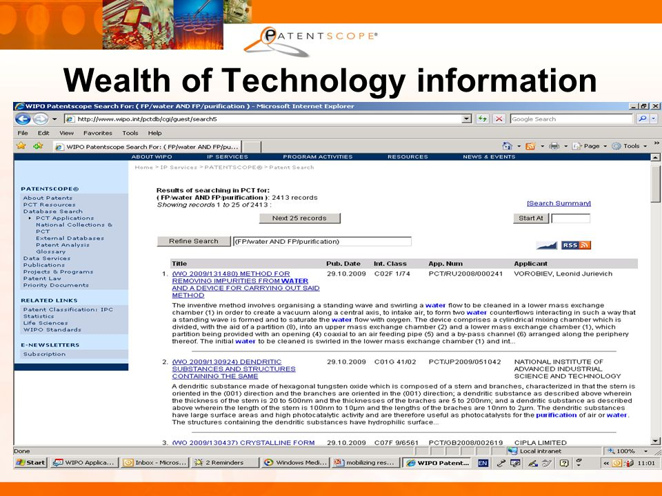 Wealth of Technology information