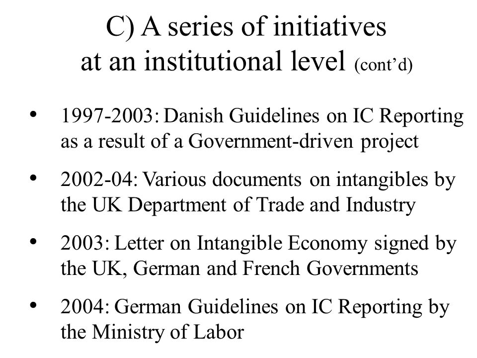 2002-2003: Official Study for the European Commission on the measurement of intangible assets (Ferrara+New York+Melbourne) 2002: International Confere