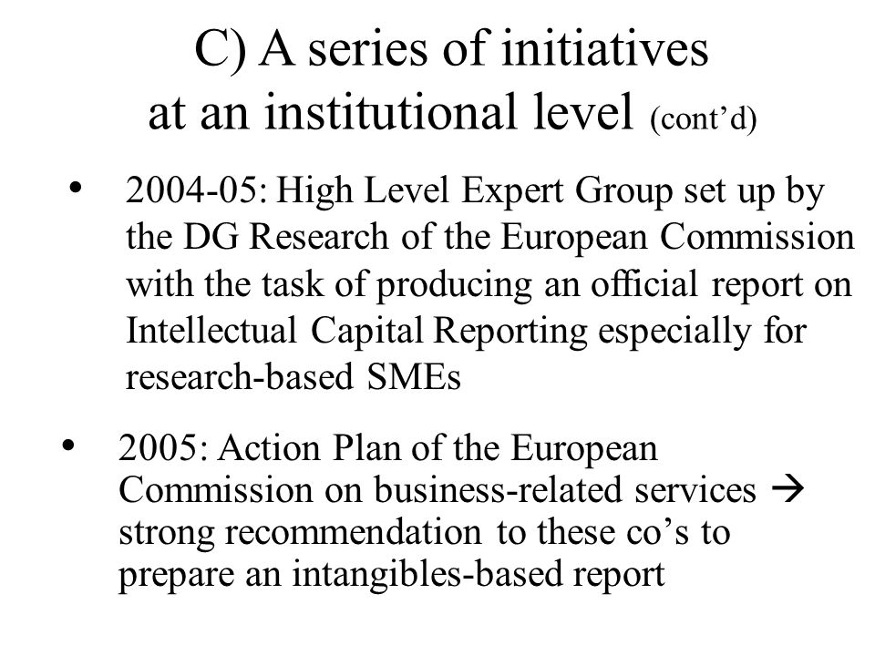 April 2005: A new policy by the city's Pudong New Area recognition of human resources as capital contribution up to a maximum of 35% of the enterprise