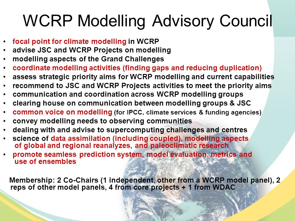 WCRP – WWRP (healthy) Cooperation S2S – in hand, developing YOTC - in hand Polar (YOPP?) – WCRP still needs to do a lot for this WCRP initiative to start making good sense, but the prospects are there Significant joint work via WGNE, as Andy reported