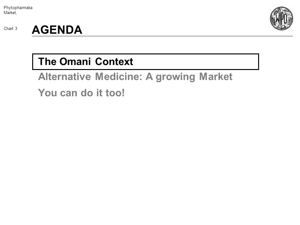 Phytopharmaka Market, Chart 3 The Omani Context Alternative Medicine: A growing Market You can do it too.