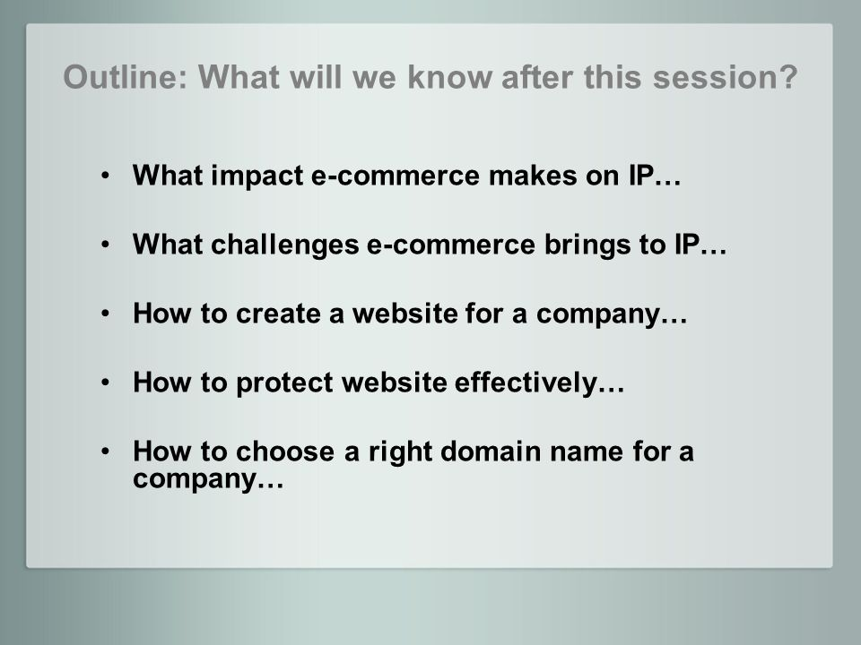 What impact e-commerce makes on IP?
