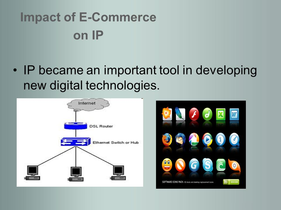 Online branding became very important for current businesses. Impact of E-Commerce on IP