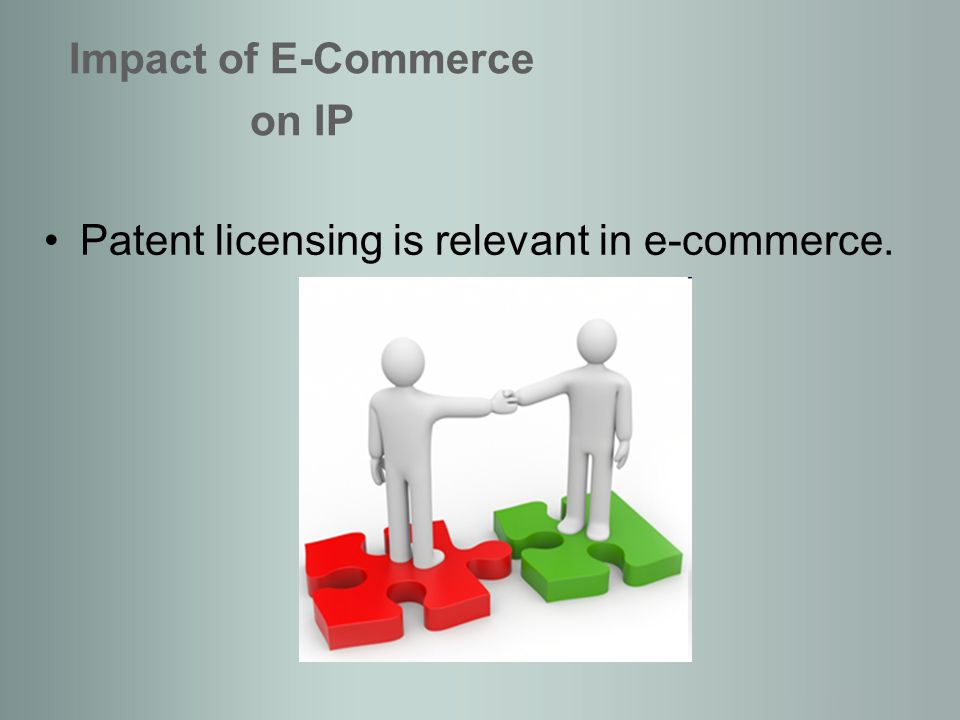 Protection of Software: different IP rights can protect different components of software Challenges raised by the impact of e-commerce Copyright most used form, protects e.g.