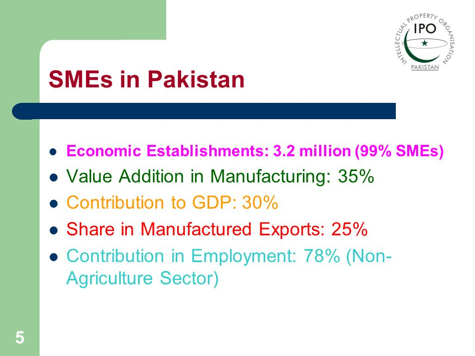 6 SME Sector (Sub-Sectoral Share of SMEs)