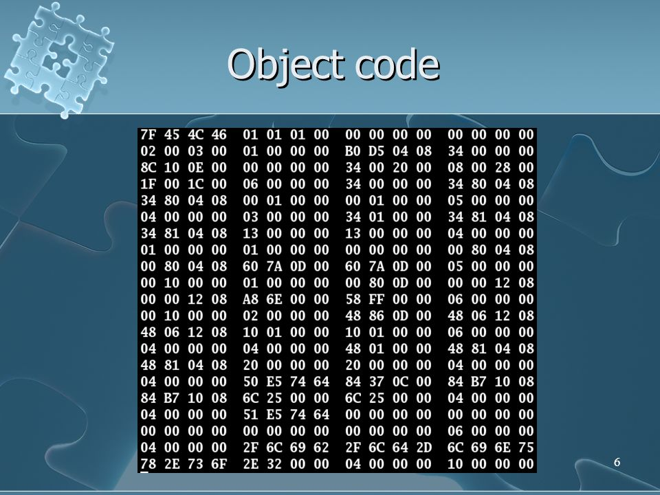6 Object code