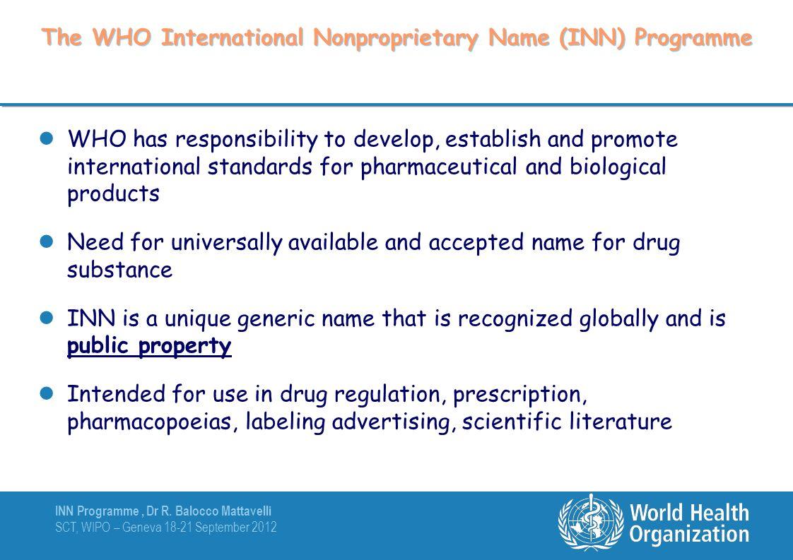 INN Programme, Dr R.