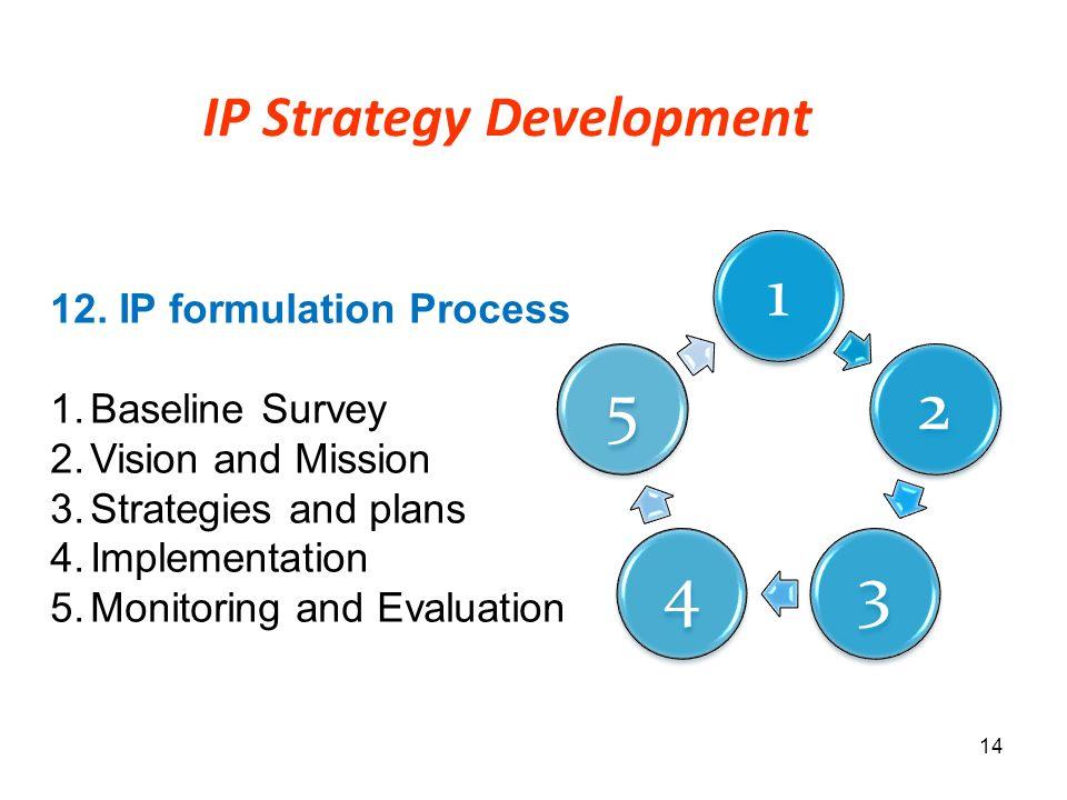 14 IP Strategy Development 12345 12.